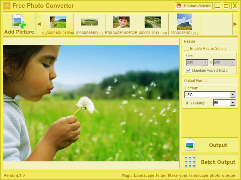 Free BMP JPG Converter full screenshot