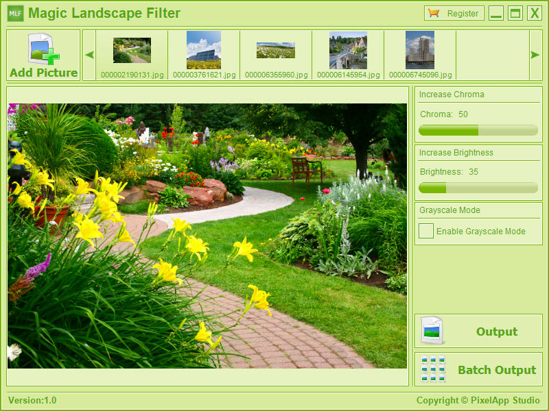 Click to view Magic Landscape Filter 1.1 screenshot