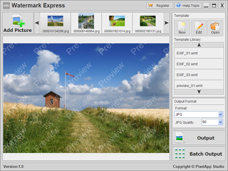 Click to view Watermark Express 1.0 screenshot